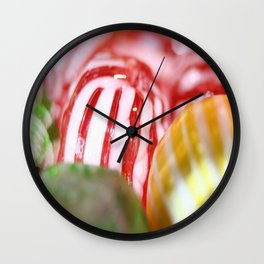 Macro of Stiped Hard Candy Wall Clock
