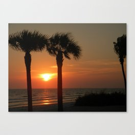 Sunset Fort Myers Beach Florida Canvas Print