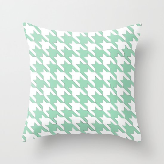Mint Tooth Throw Pillow