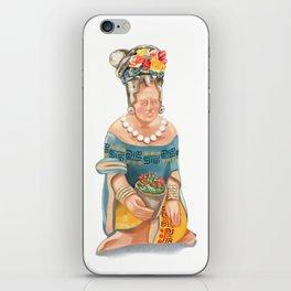 Mesoamerican Seated Woman iPhone Skin