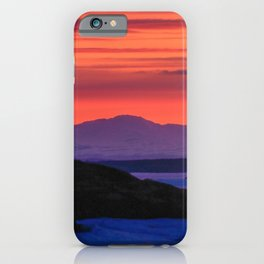 Sunset in winter with red sky iPhone Case