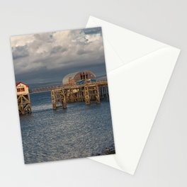 Mumbles pier and lifeboat station Stationery Cards