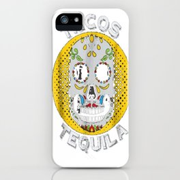 Tacos and Tequila Sugar Skull Halloween T-Shirt Gift iPhone Case