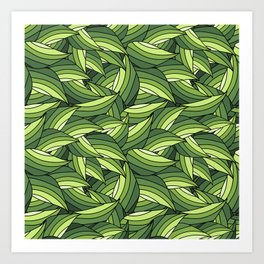 GREENERY LEAVES B  (abstract flowers nature) Art Print