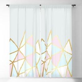 Gold & Pastel Geometric Pattern Blackout Curtain