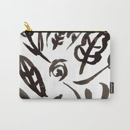 Black Leaves Carry-All Pouch