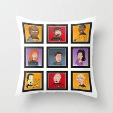 The Family Star Trek Bunch: Next Generation Throw Pillow