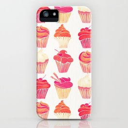Cupcake Collection – Pink & Cream Palette iPhone Case