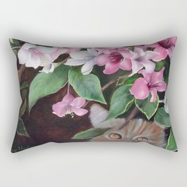 Hiding Kitty Rectangular Pillow