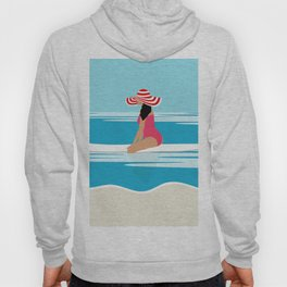 Solo surfing woman Hoody