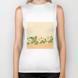 Abstract roses background Biker Tank