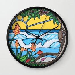 Love Tree Surf Art by Lauren Tannehill Art Wall Clock