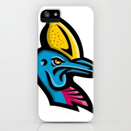 Cassowary Head Mascot iPhone Case