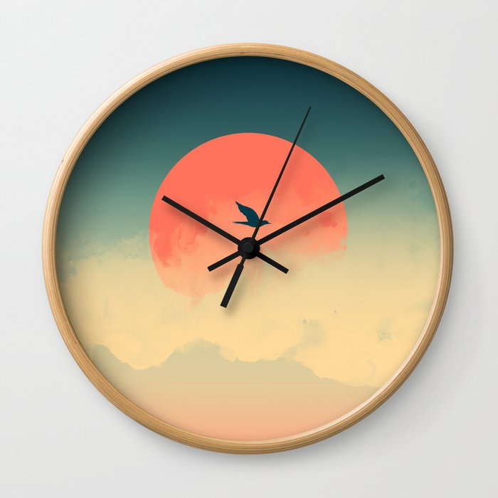 Lonesome Traveler Wall Clock