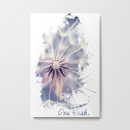 Dandelion Blue Graphic - Vertical Metal Print