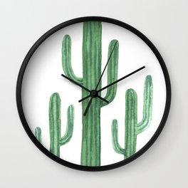 Desert Cacti 3 Wall Clock