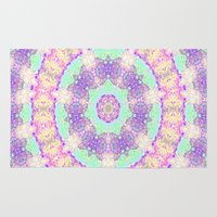 tree rings Area & Throw Rugs featuring Tree Rings by Cosmic Lotus Tribe