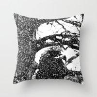 hawk Throw Pillows featuring Hawk by Anand Brai