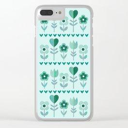 LOVE GARDEN - SEAFOAM Clear iPhone Case