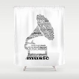 Gramophone Shower Curtain
