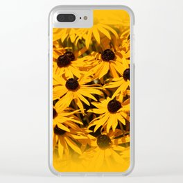 A Bed of Bloomin' Rudbeckias Clear iPhone Case