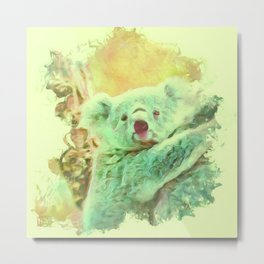 Painterly Animal - Koala 2 Metal Print