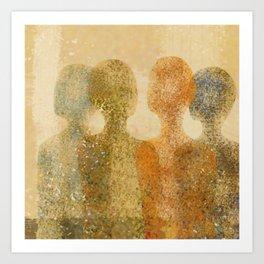 four figures Art Print