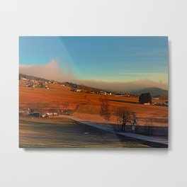 Clouds over the mountains II | landscape photography Metal Print