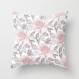 Pink power Throw Pillow