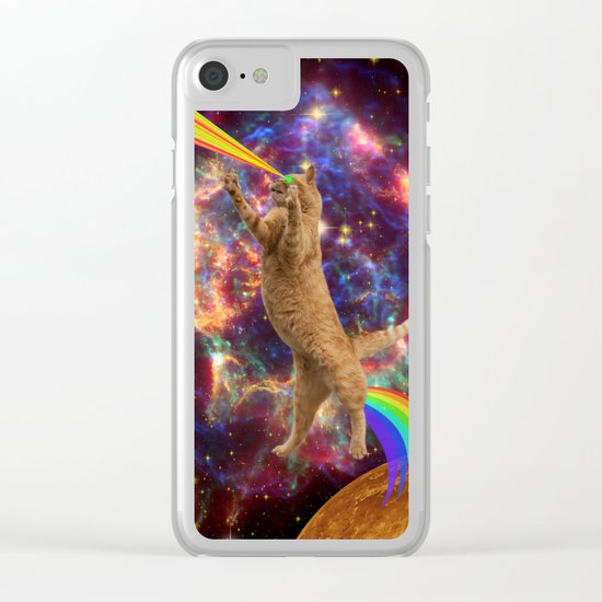 CAT SPACE  Clear iPhone Case