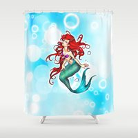 thorin Shower Curtains featuring Ariel Mermaid by Thorin