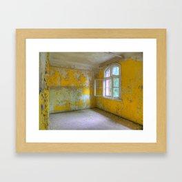The yellow room, Beelitz Heilstaetten, lost Places Framed Art Print