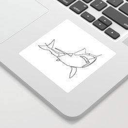 Great White Shark (white) Sticker