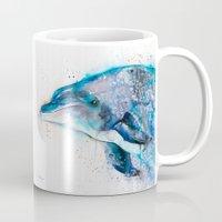 dolphin Mugs featuring Dolphin  by Slaveika Aladjova