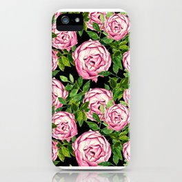 Neck Gaiter America Pink Roses Face Mask Bandana Balaclava Headband Made in the USA iPhone Case