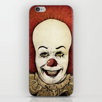 pennywise iPhone & iPod Skins featuring It - Pennywise (Color Version) by Sinpiggyhead
