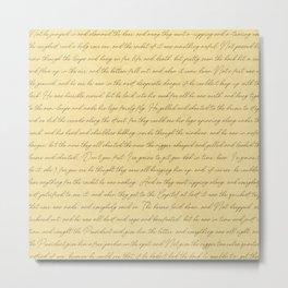 Tom Sawyer Manuscript Metal Print