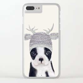 little boston ohh deer Clear iPhone Case