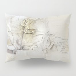 Abstract - Tranquility 1 - Soft Neutral Color Collage - Mixed Media Pillow Sham