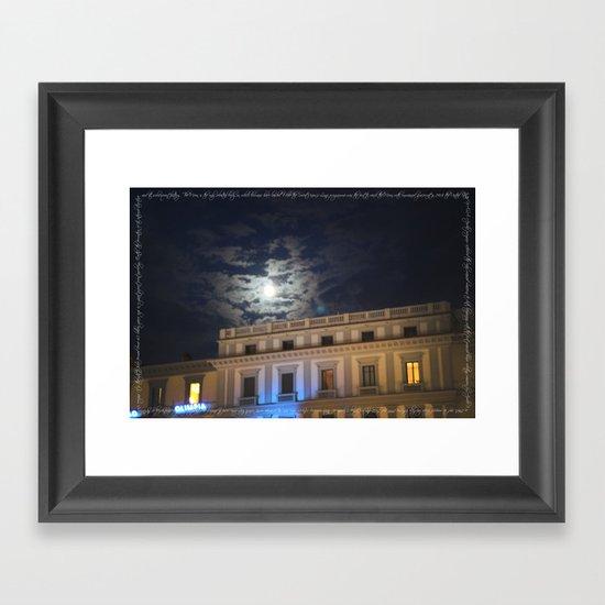 the only celestial body Framed Art Print