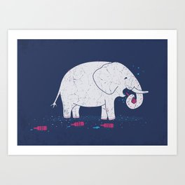 Heavy Drinking Art Print