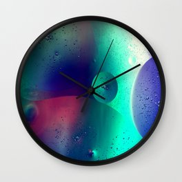 Electric Oil Droplets Number One Wall Clock