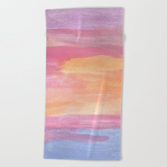 Sunset at the Ocean Beach Towel