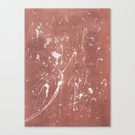Copper&White Canvas Print