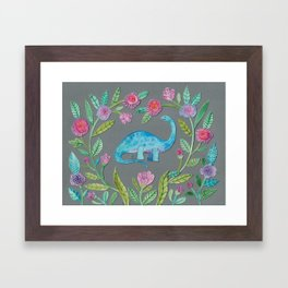 Flora the Dinosaur Framed Art Print