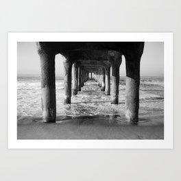 Manhattan Beach Pier   Manhattan Beach Photography   Manhattan Beach Art   Manhattan Beach Print Art Print