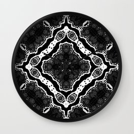 abstract jewel black II Wall Clock