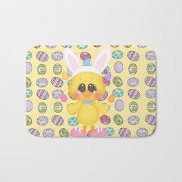 Easter Chick with Bunny Ears Bath Mat
