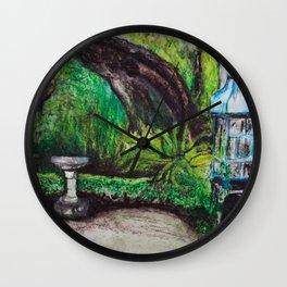 Birdcage in the California garden Wall Clock