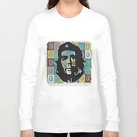 che Long Sleeve T-shirts featuring Everywhere a Che, Che by Ethna Gillespie